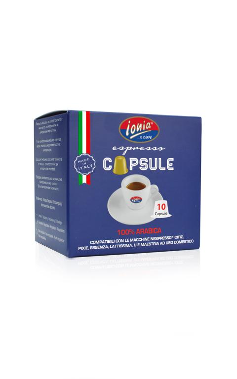 100% Arabica capsule compatibili nespresso