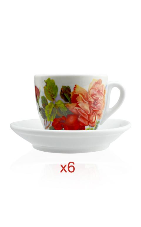 tazza ionia cappuccino rose