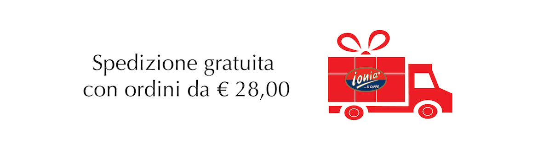 spedizione gratuita da € 28,00